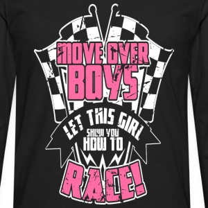 Race - Let this girl show you how to race - Men's Premium Long Sleeve T-Shirt