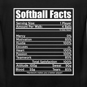 Softball facts - Hustle, heart, passion, attitude - Men's Premium Tank