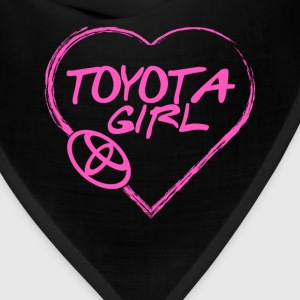 Toyota girl - Pink heart lovely T-shirt - Bandana