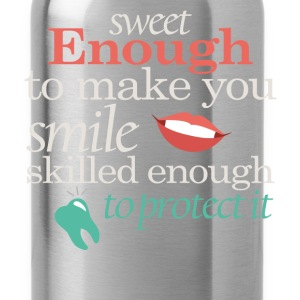Sweet enough to make you smile skilled enough to p - Water Bottle