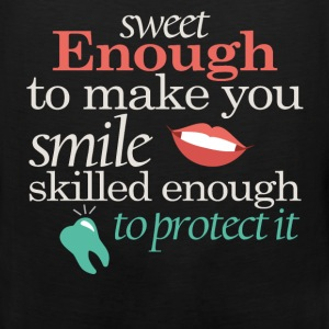 Sweet enough to make you smile skilled enough to p - Men's Premium Tank
