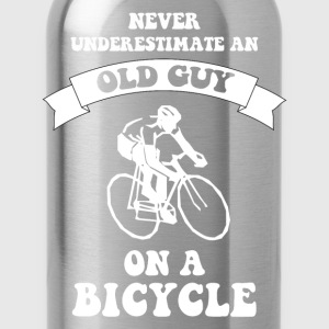 Never underestimate an old guy on a bicycle - Water Bottle