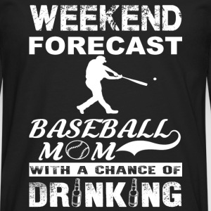 Weekend baseball mom - With a chance of drinking - Men's Premium Long Sleeve T-Shirt