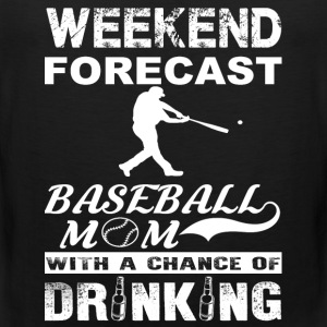 Weekend baseball mom - With a chance of drinking - Men's Premium Tank