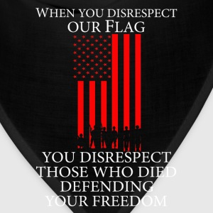 US flag - Those who died defending your freedom - Bandana