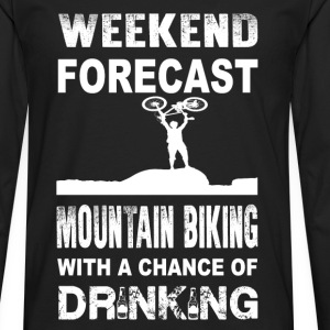 Weekend mountain biking - With chance of drinking - Men's Premium Long Sleeve T-Shirt