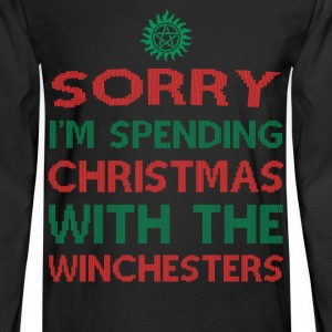 Winchesters fan - Sorry I'm spending Christmas - Men's Long Sleeve T-Shirt