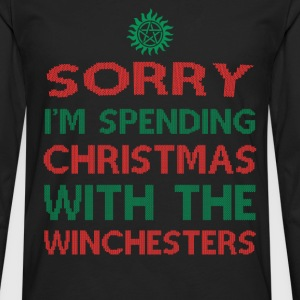 Winchesters fan - Sorry I'm spending Christmas - Men's Premium Long Sleeve T-Shirt