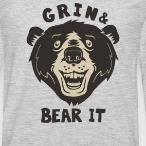 Grin And Bear It - Men's Premium Long Sleeve T-Shirt