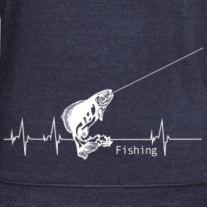 Heartbeat Fishing Hoodies - Women's Wideneck Sweatshirt