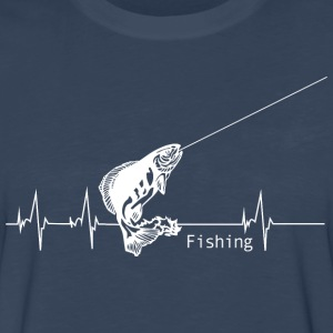 Heartbeat Fishing T-Shirts - Men's Premium Long Sleeve T-Shirt
