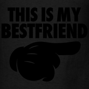 This Is My Bestfriend (Pointing Right) Tanks - Men's T-Shirt