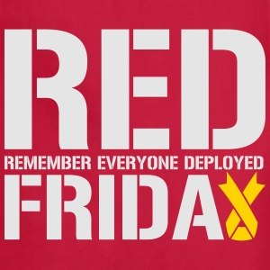 Red Friday Remember Everyone Deployed - Adjustable Apron