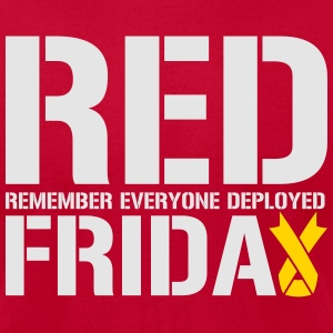 Red Friday Remember Everyone Deployed - Men's T-Shirt by American Apparel