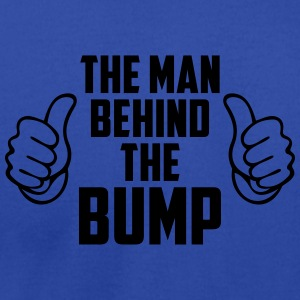 The Man Behind the Bump - Men's T-Shirt by American Apparel