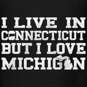 Live Connecticut Love Michigan  Bags & backpacks - Men's T-Shirt