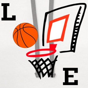 Love Basketball T-Shirt - Contrast Hoodie