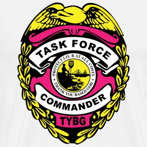 TASK FORCE COMMANDER BADGE Hoodies - Men's Premium T-Shirt