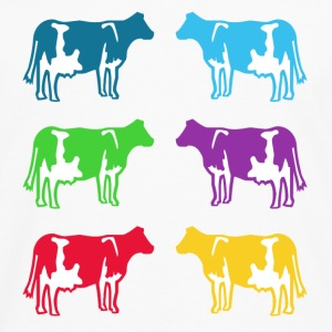 cow colored cows Kids' Shirts - Men's Premium Long Sleeve T-Shirt