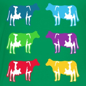 cow colored cows Kids' Shirts - Toddler Premium T-Shirt