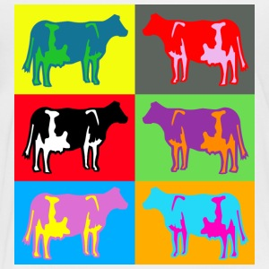 cow colored cows multicolor Kids' Shirts - Toddler Premium T-Shirt