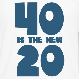 40 is the new 20 - Men's Premium Long Sleeve T-Shirt
