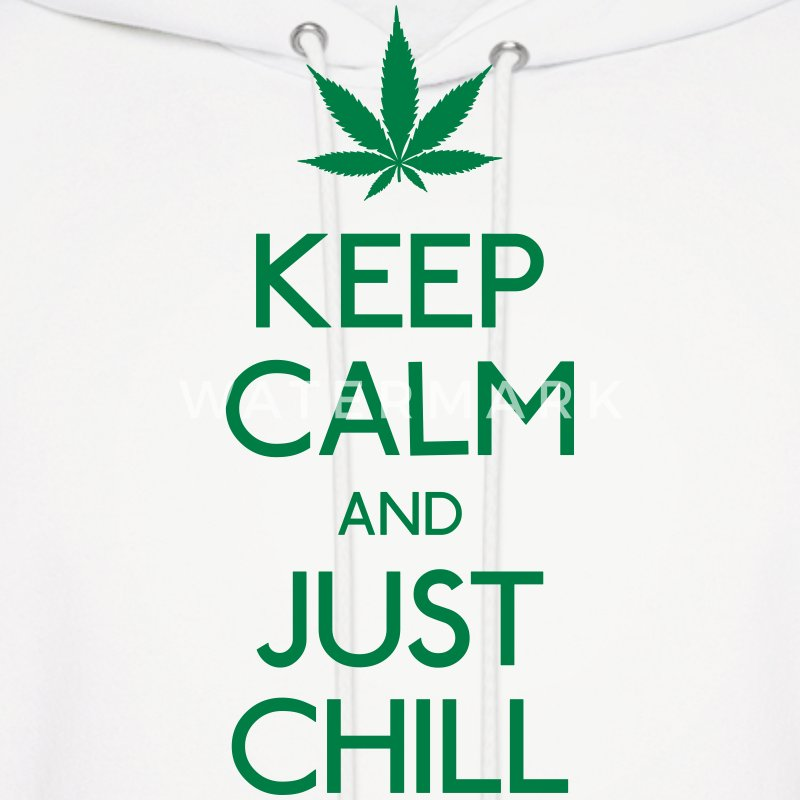 Keep Calm and just chill Hoodies - Men's Hoodie