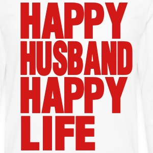 HAPPY HUSBAND HAPPY LIFE - Men's Premium Long Sleeve T-Shirt