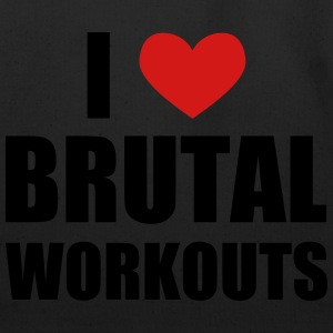 I Love Brutal Workouts T-Shirts - Eco-Friendly Cotton Tote