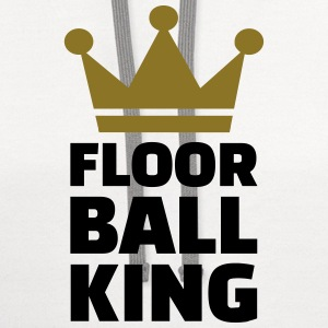 Floorball King T-Shirts - Contrast Hoodie