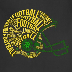 football_helmet_typography T-Shirts - Adjustable Apron