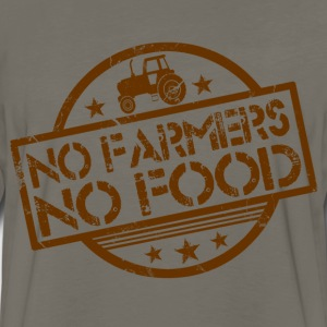 no_farmers_no_food T-Shirts - Men's Premium Long Sleeve T-Shirt