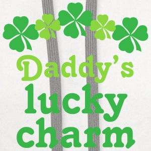 Daddy's Lucky Charm Irish Baby & Toddler Shirts - Contrast Hoodie