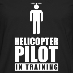 helicopter_pilot_in_training Kids' Shirts - Men's Premium Long Sleeve T-Shirt