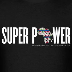 African Super Power Crew Neck - Men's T-Shirt