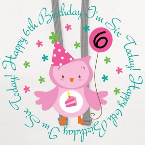 6th Birthday Girl's Owl Kids' Shirts - Contrast Hoodie