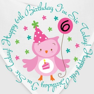 6th Birthday Girl's Owl Kids' Shirts - Bandana