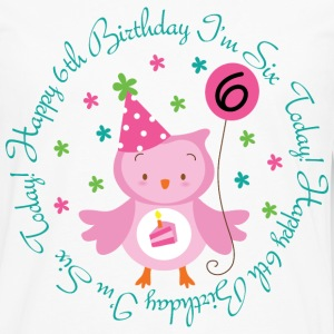 6th Birthday Girl's Owl Kids' Shirts - Men's Premium Long Sleeve T-Shirt
