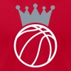 Crown Basketball T-Shirts - Men's T-Shirt by American Apparel