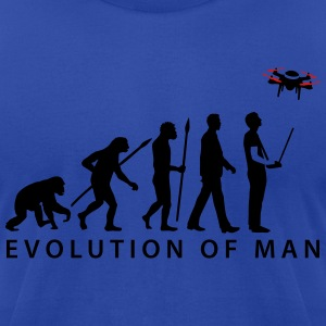 evolution_modellflieger_drohne_4_propell Hoodies - Men's T-Shirt by American Apparel