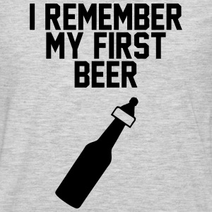 First Beer T-Shirts - Men's Premium Long Sleeve T-Shirt