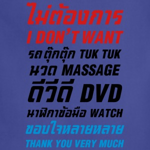 I Don't Want Tuk Tuk Massage DVD Watch Thank You - Adjustable Apron