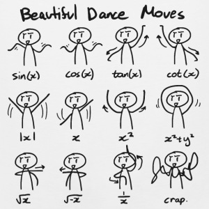 Beautiful Math Dance Moves T-Shirts - Men's Premium Tank