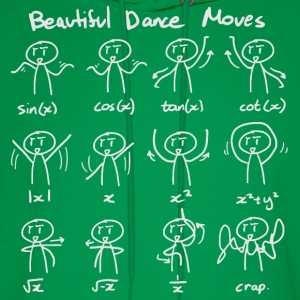 Beautiful Math Dance Moves T-Shirts - Men's Hoodie