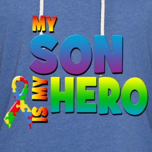 My Son Is My Hero T-Shirts - Unisex Lightweight Terry Hoodie