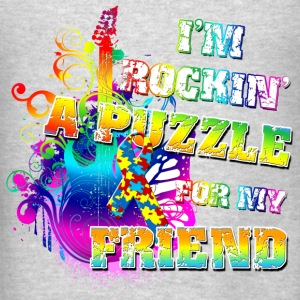 I'm Rockin' A Puzzle For My Friend Hoodies - Men's T-Shirt