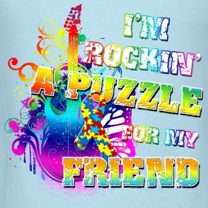 I'm Rockin' A Puzzle For My Friend Baby & Toddler Shirts - Men's T-Shirt