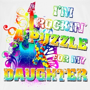 I'm Rockin' A Puzzle For My Daughter Baby & Toddler Shirts - Men's Premium T-Shirt