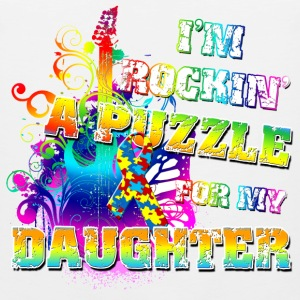 I'm Rockin' A Puzzle For My Daughter Hoodies - Men's Premium Tank