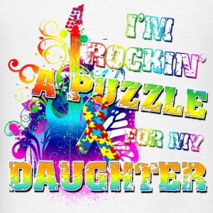 I'm Rockin' A Puzzle For My Daughter Hoodies - Men's T-Shirt